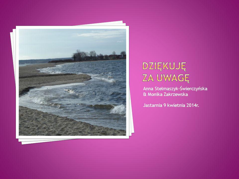 Dziękuję za uwagę Anna Stelmaszyk-Świerczyńska & Monika Zakrzewska