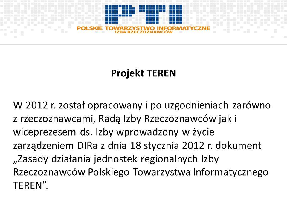 Projekt TEREN W 2012 r.