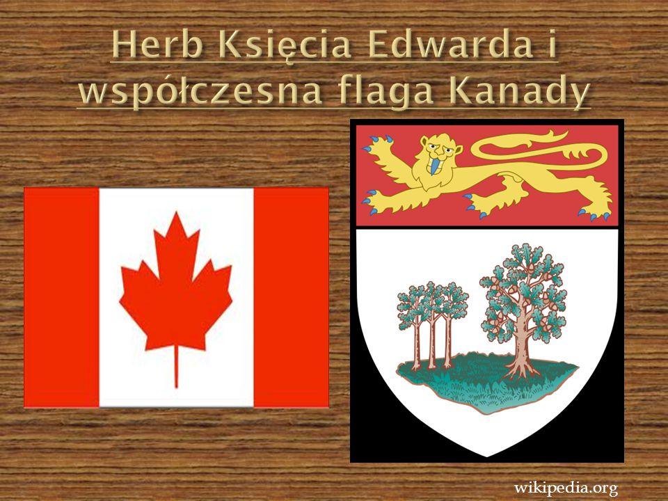 Herb Księcia Edwarda i współczesna flaga Kanady