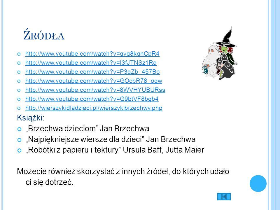 """Źródła Książki: """"Brzechwa dzieciom Jan Brzechwa"""
