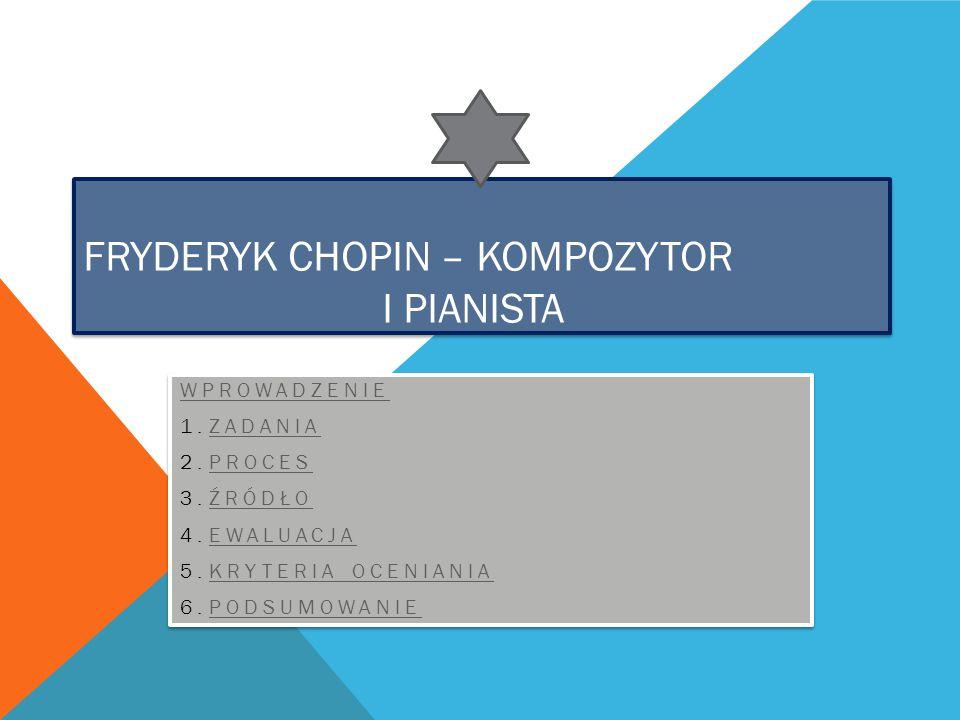 Fryderyk Chopin – kompozytor i pianista