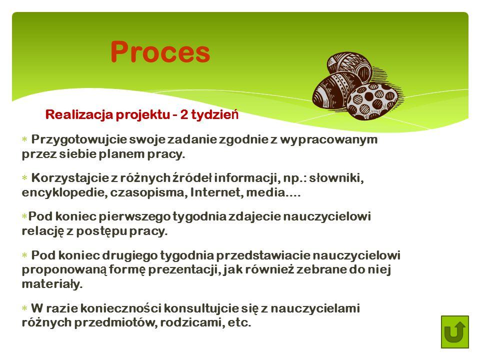Proces Realizacja projektu - 2 tydzień