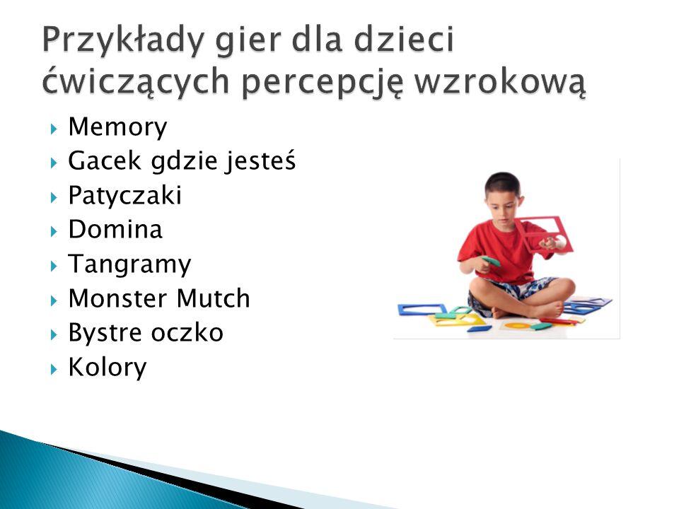 Przykłady gier dla dzieci ćwiczących percepcję wzrokową
