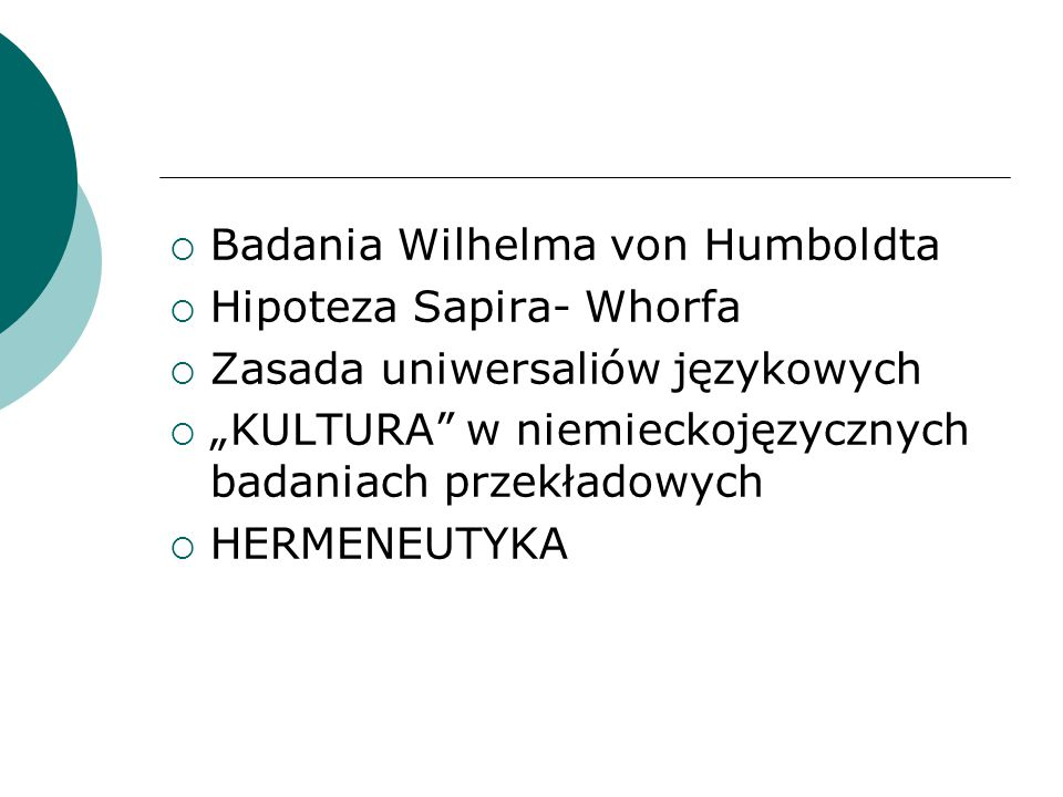 Badania Wilhelma von Humboldta
