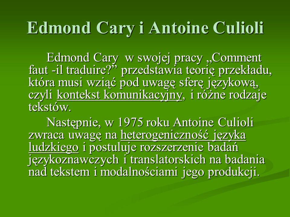 Edmond Cary i Antoine Culioli