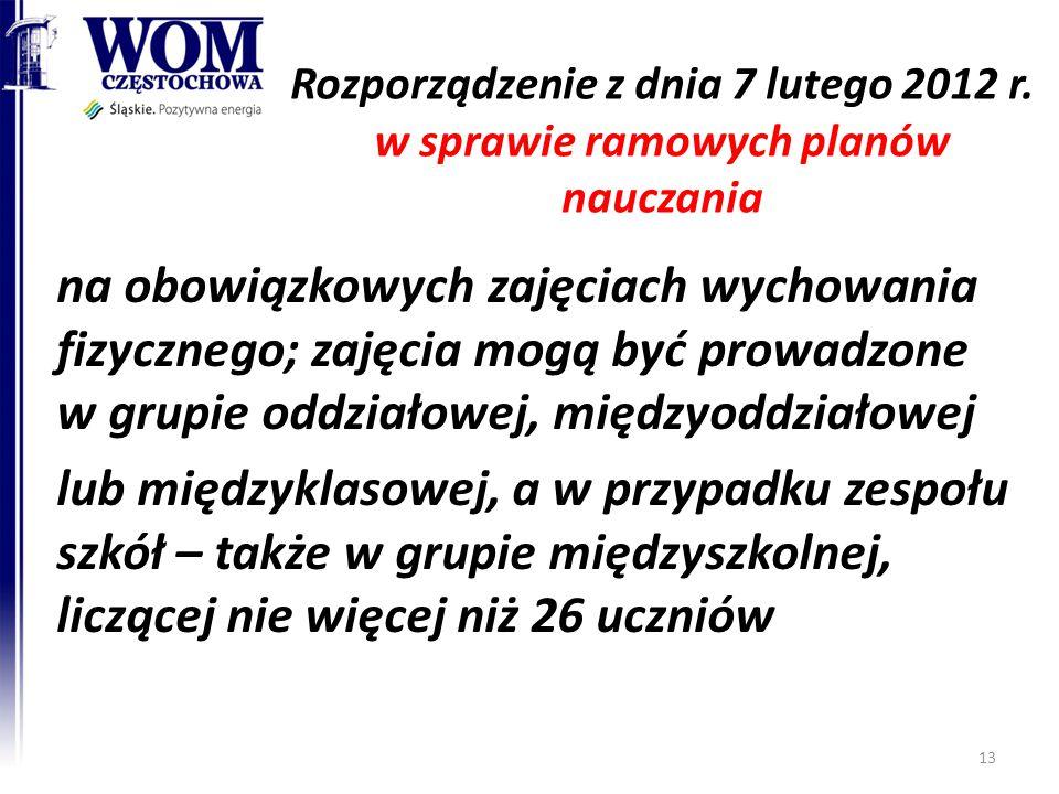Rozporządzenie z dnia 7 lutego 2012 r