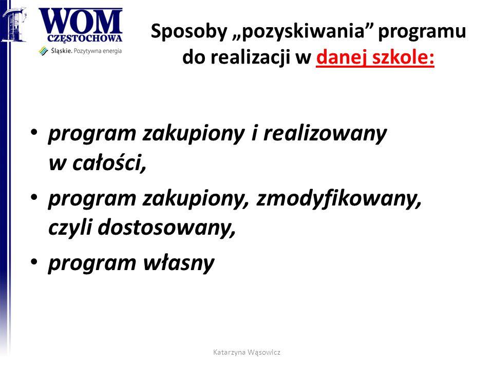 """Sposoby """"pozyskiwania programu do realizacji w danej szkole:"""