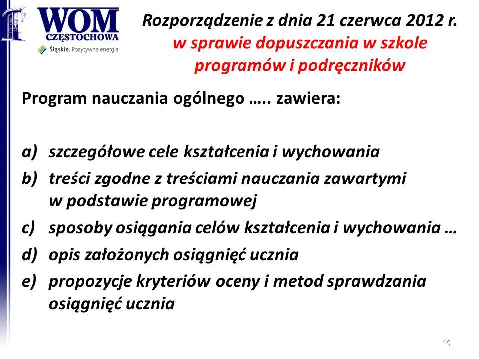 Rozporządzenie z dnia 21 czerwca 2012 r