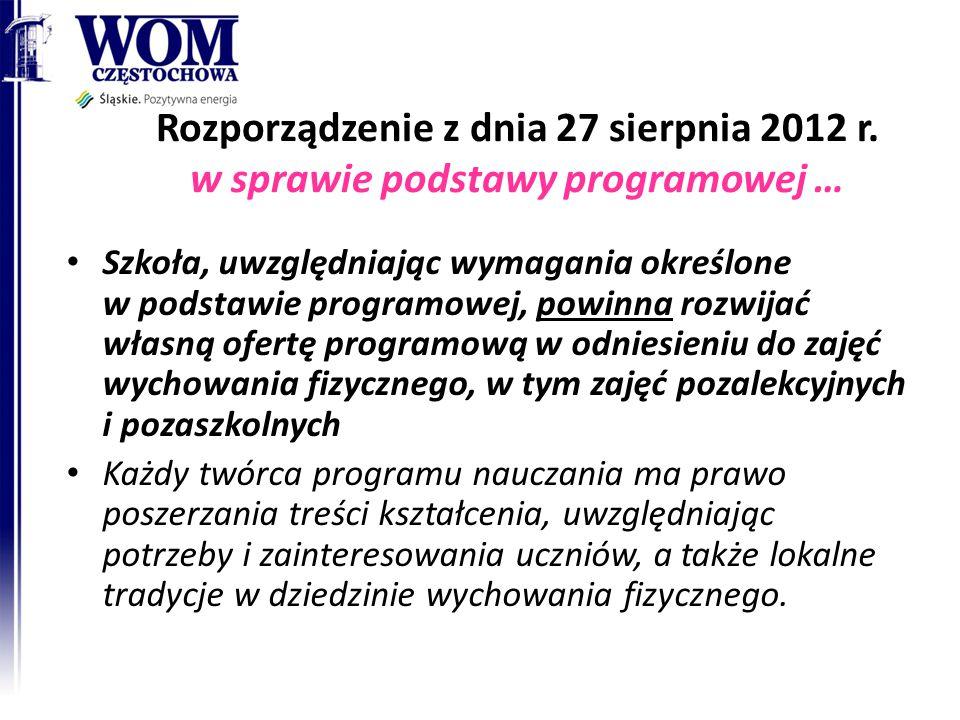 Rozporządzenie z dnia 27 sierpnia 2012 r