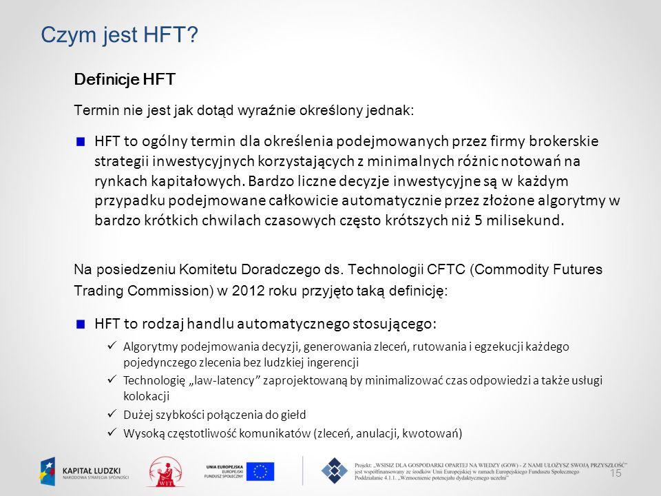 Czym jest HFT Definicje HFT