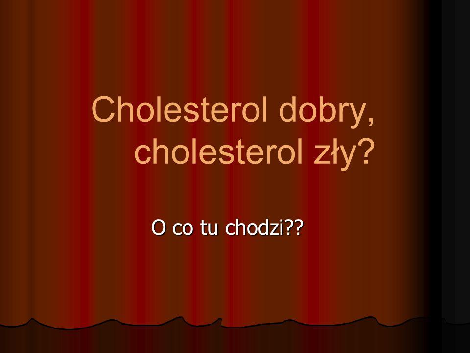 Cholesterol dobry, cholesterol zły