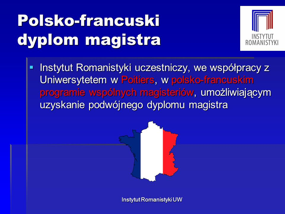 Polsko-francuski dyplom magistra