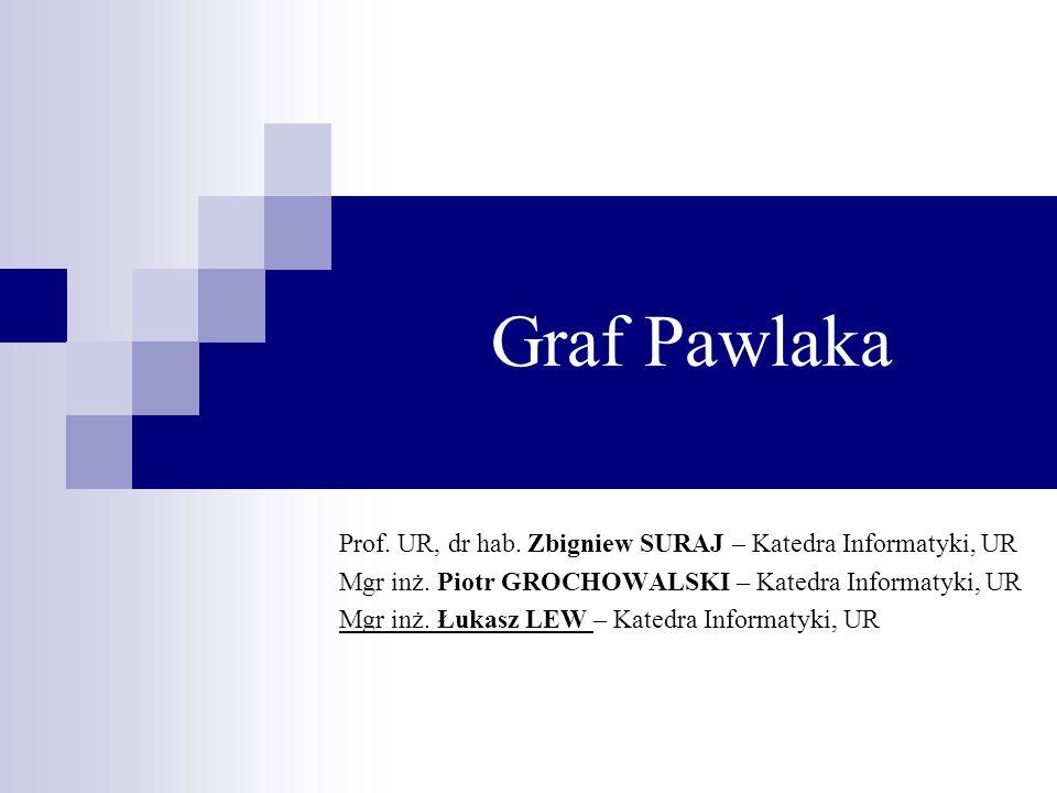 Graf Pawlaka Prof. UR, dr hab. Zbigniew SURAJ – Katedra Informatyki, UR. Mgr inż. Piotr GROCHOWALSKI – Katedra Informatyki, UR.