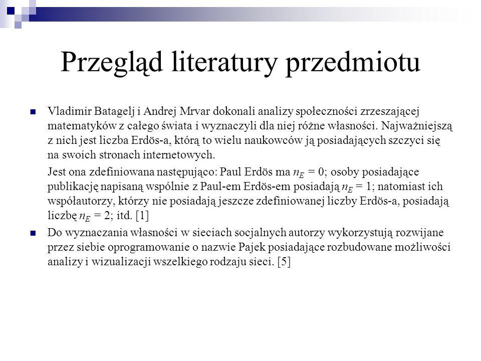 Przegląd literatury przedmiotu