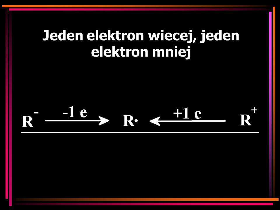 Jeden elektron wiecej, jeden elektron mniej