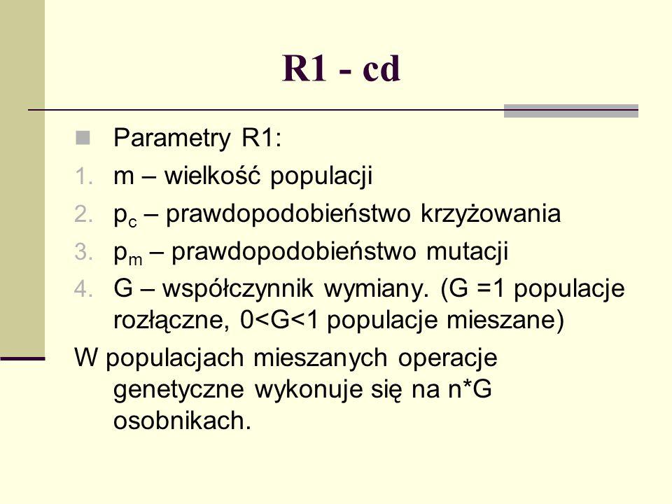R1 - cd Parametry R1: m – wielkość populacji