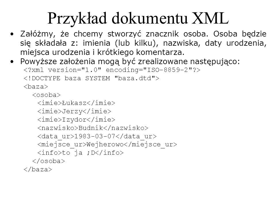 Przykład dokumentu XML