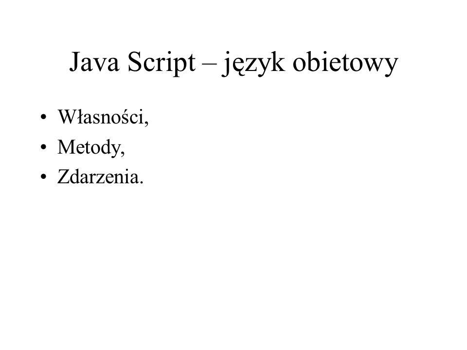 Java Script – język obietowy