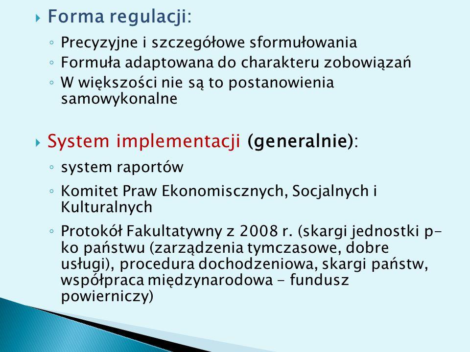 System implementacji (generalnie):