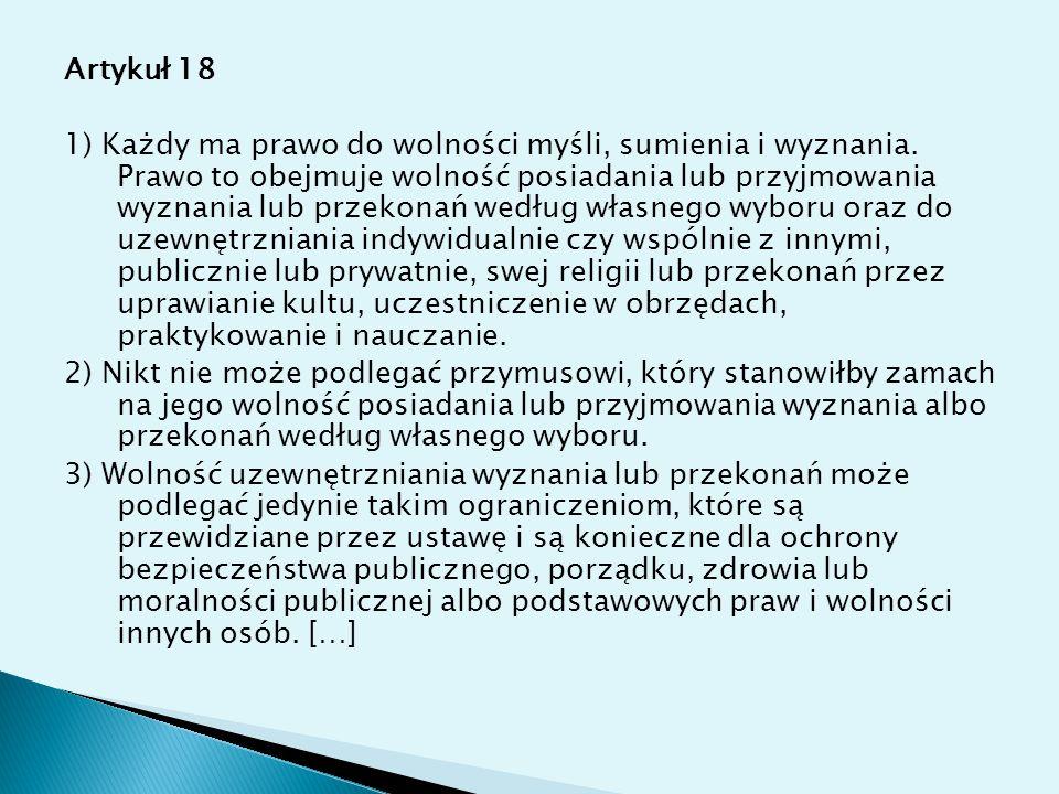 Artykuł 18