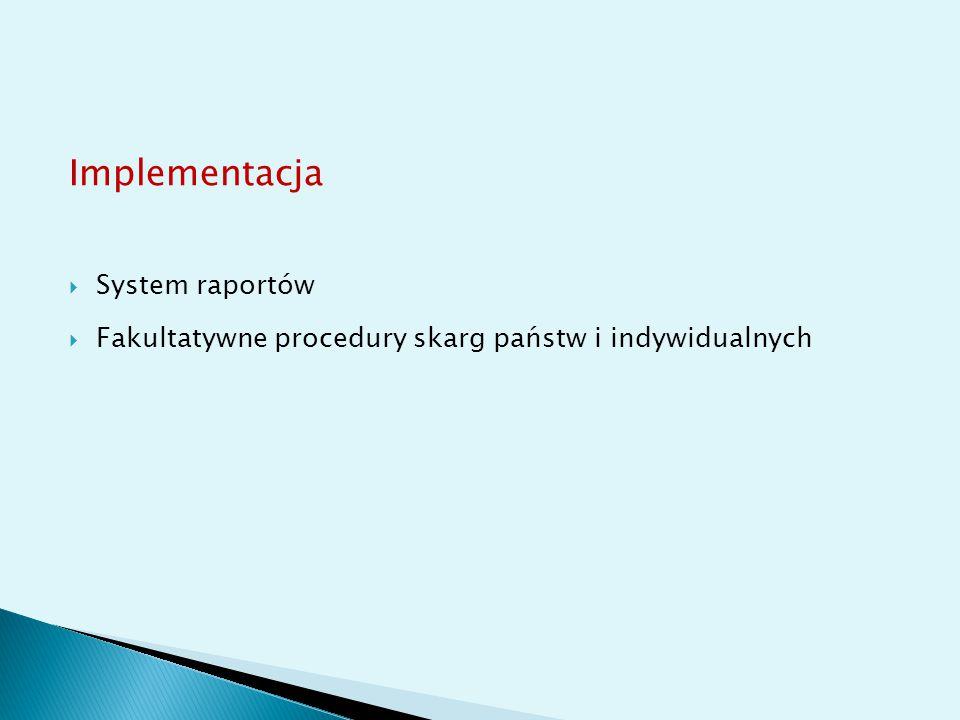 Implementacja System raportów