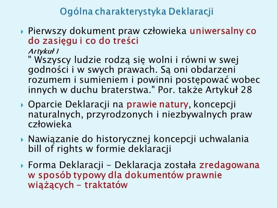 Ogólna charakterystyka Deklaracji