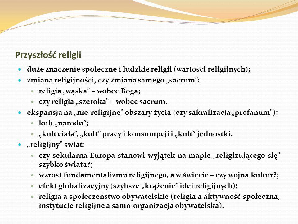 duże znaczenie społeczne i ludzkie religii (wartości religijnych);