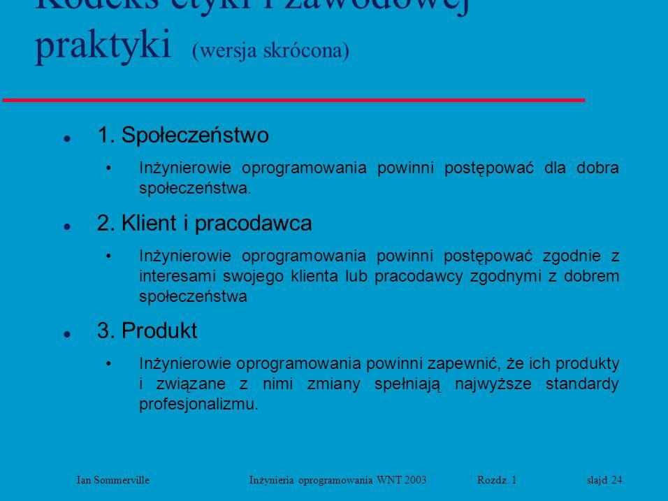 Kodeks etyki i zawodowej praktyki (wersja skrócona)