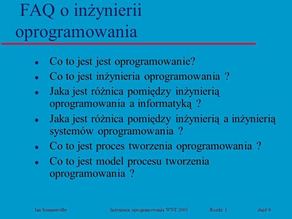 FAQ o inżynierii oprogramowania