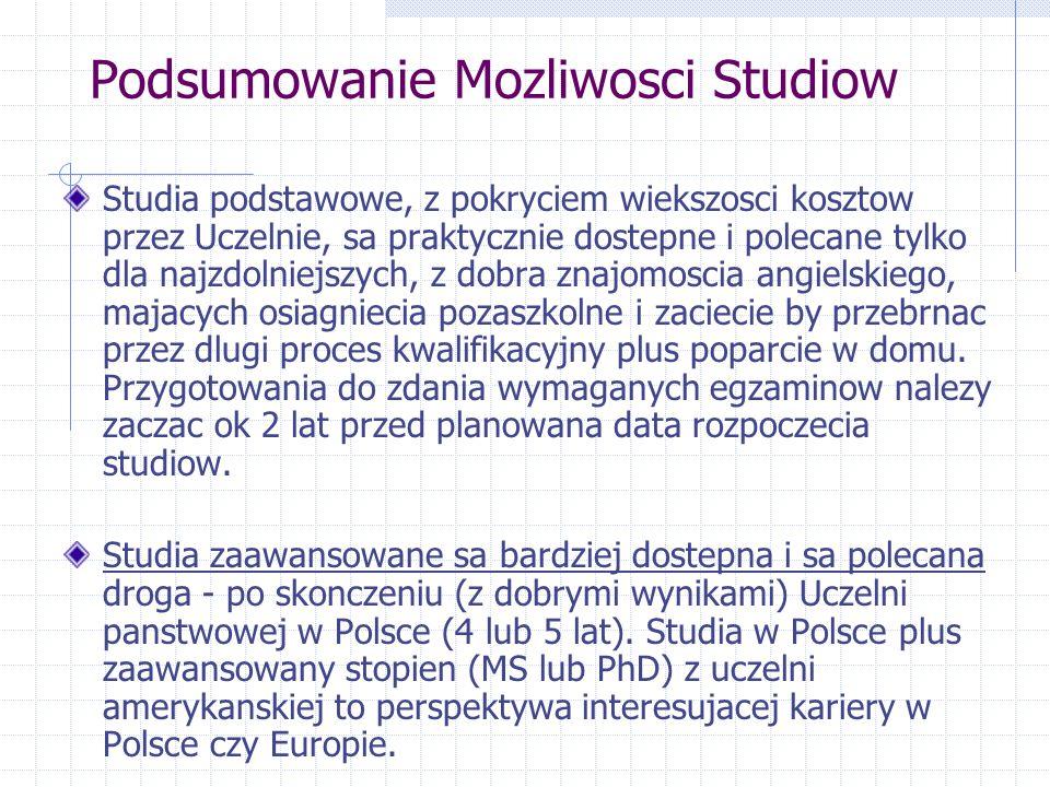Podsumowanie Mozliwosci Studiow