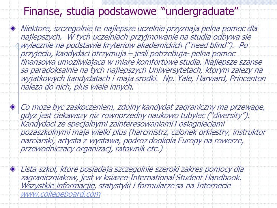 Finanse, studia podstawowe undergraduate