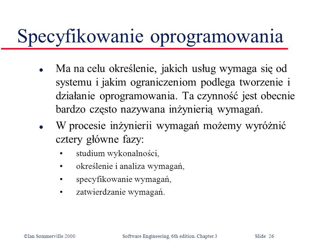 Specyfikowanie oprogramowania