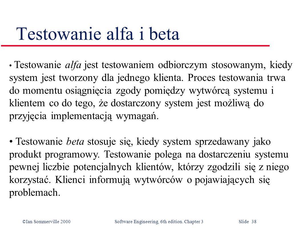 Testowanie alfa i beta