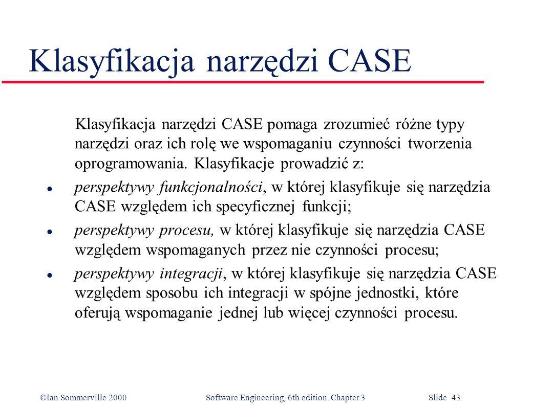 Klasyfikacja narzędzi CASE