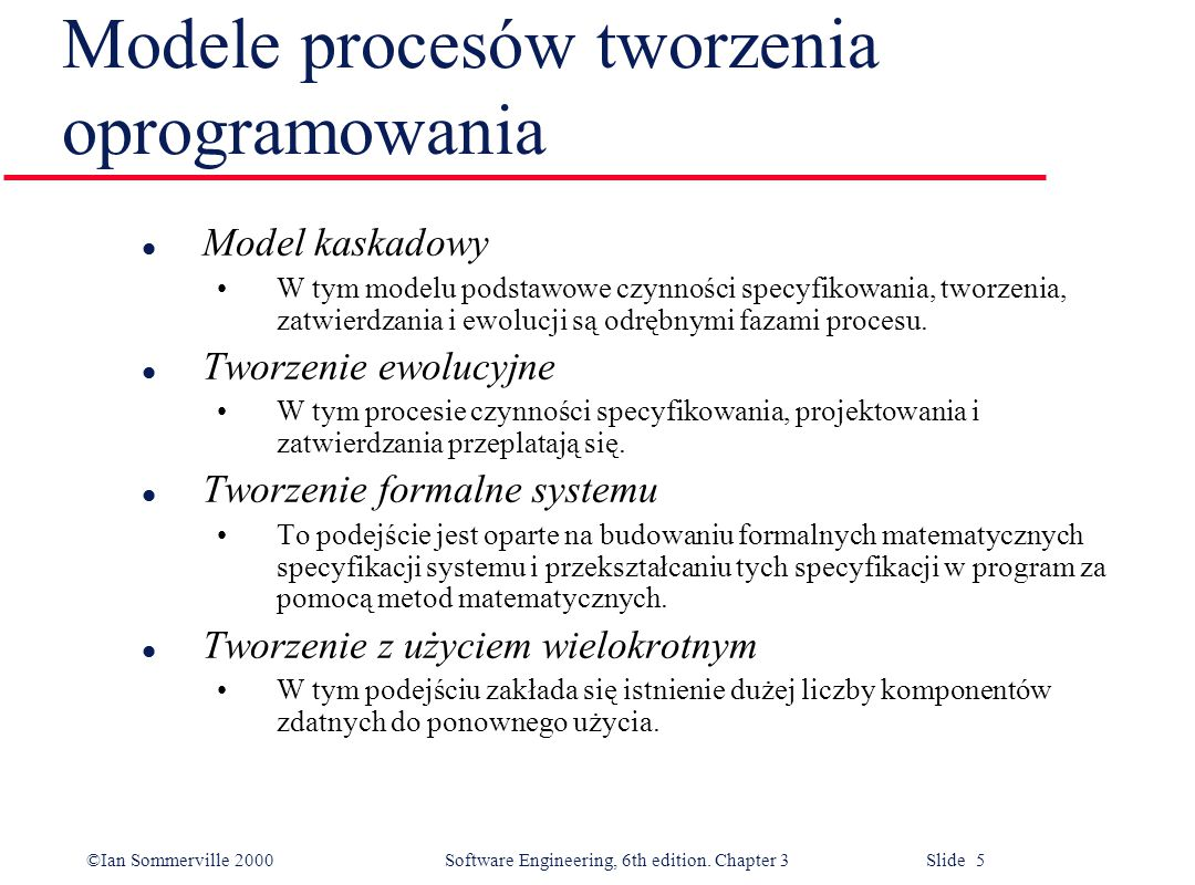 Modele procesów tworzenia oprogramowania