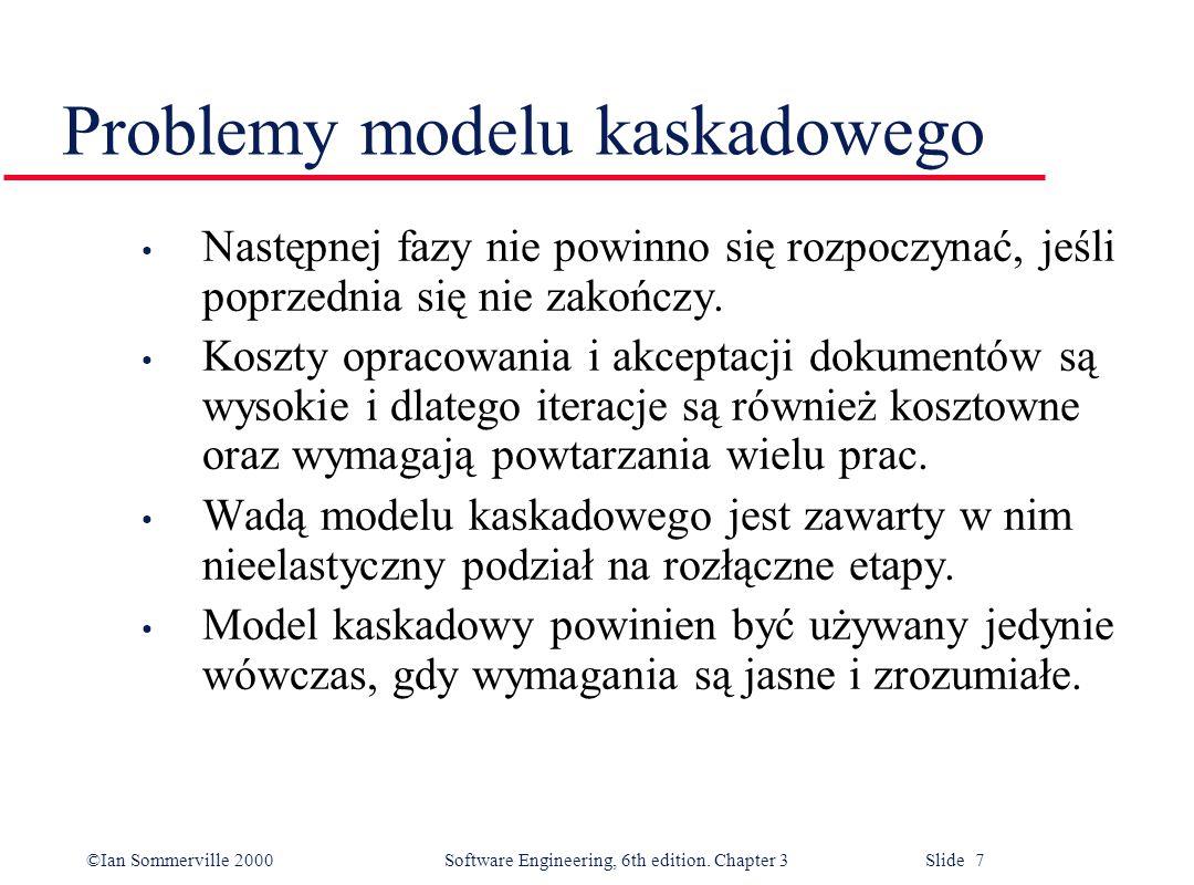 Problemy modelu kaskadowego