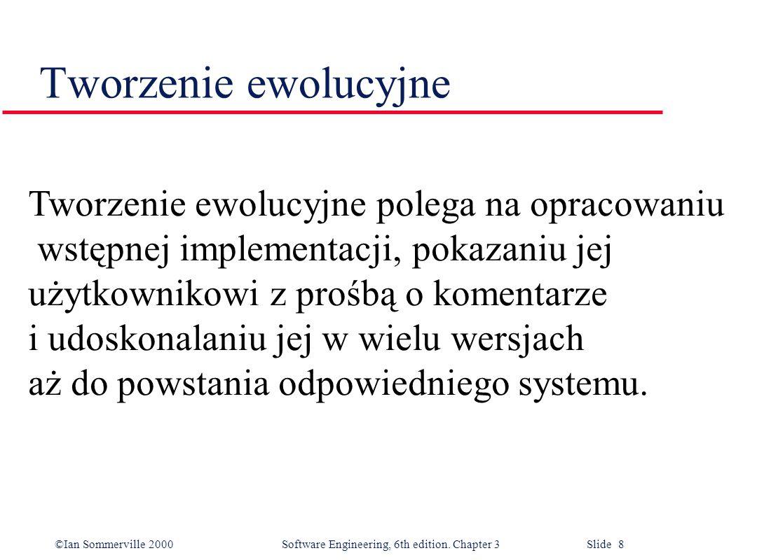 Tworzenie ewolucyjne Tworzenie ewolucyjne polega na opracowaniu