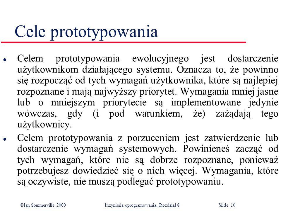 Cele prototypowania