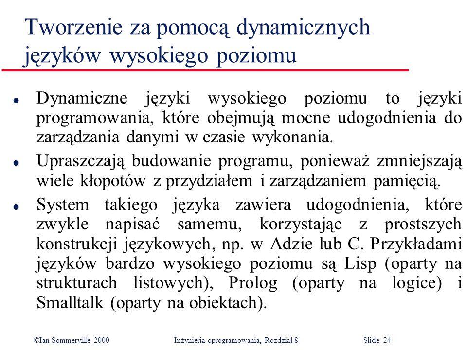 Tworzenie za pomocą dynamicznych języków wysokiego poziomu