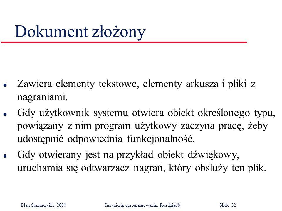 Dokument złożony Zawiera elementy tekstowe, elementy arkusza i pliki z nagraniami.