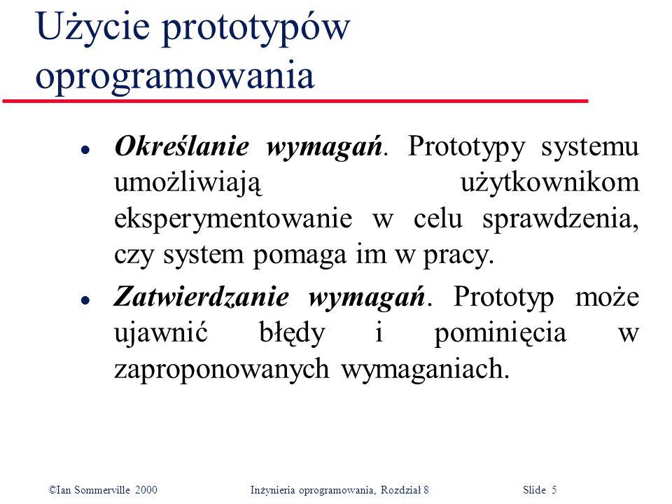 Użycie prototypów oprogramowania