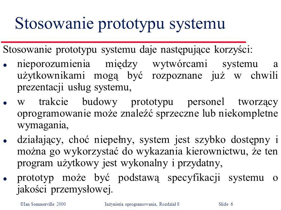 Stosowanie prototypu systemu