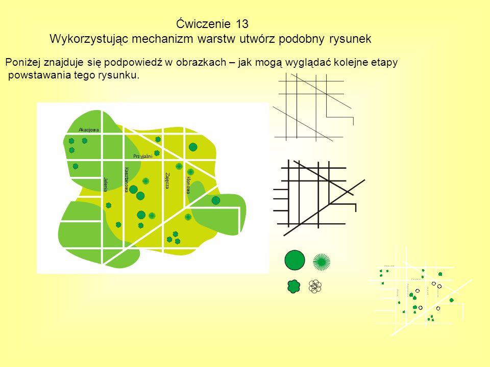 Wykorzystując mechanizm warstw utwórz podobny rysunek
