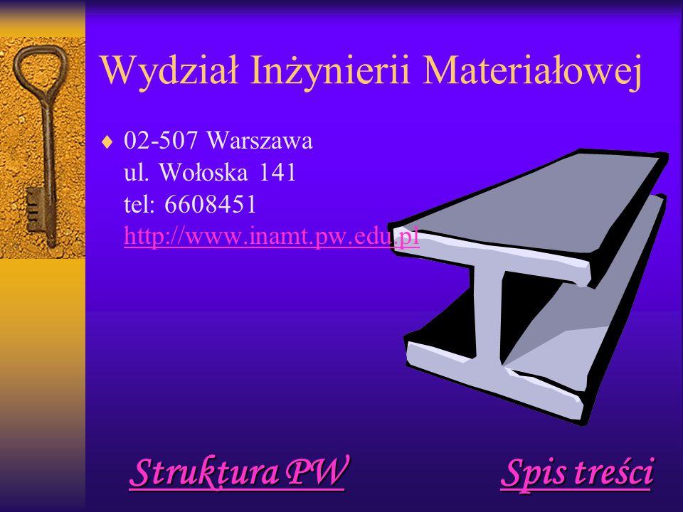 Wydział Inżynierii Materiałowej