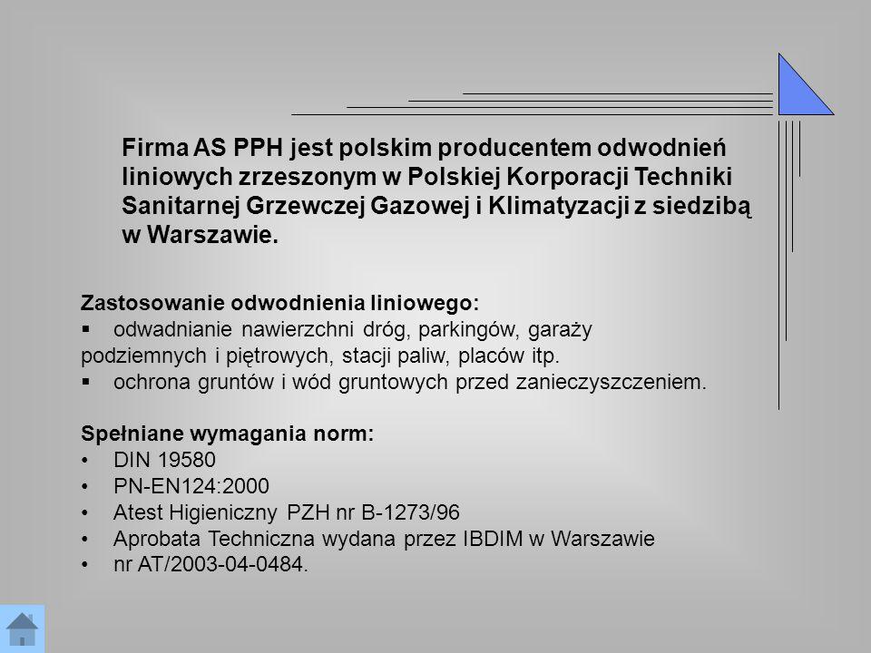 Firma AS PPH jest polskim producentem odwodnień
