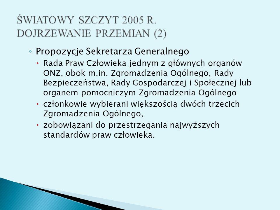 ŚWIATOWY SZCZYT 2005 R. DOJRZEWANIE PRZEMIAN (2)