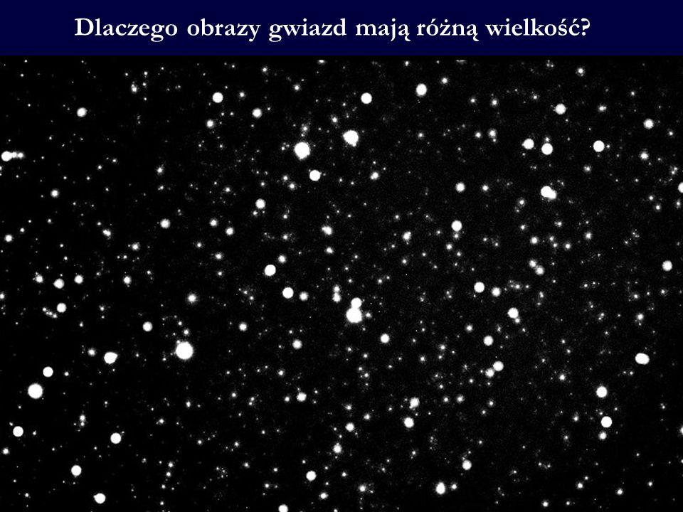 Dlaczego obrazy gwiazd mają różną wielkość
