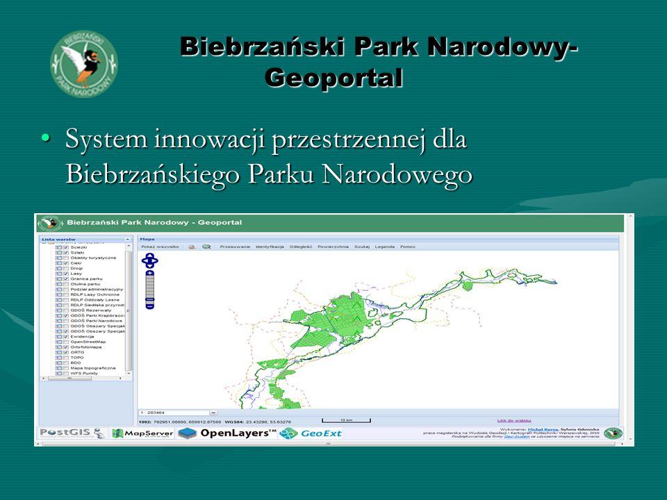 Biebrzański Park Narodowy- Geoportal