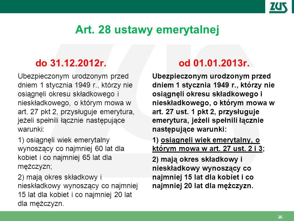 Art. 28 ustawy emerytalnej