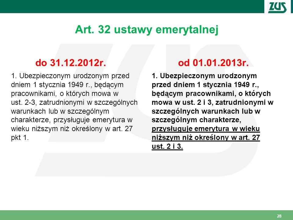 Art. 32 ustawy emerytalnej